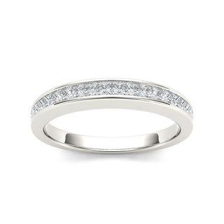 De Couer 14k White Gold 5/8ct TDW Diamond Women's Wedding Band (H-I, I2)