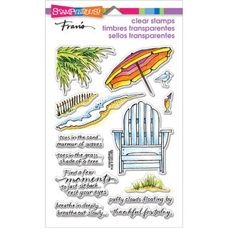 Stampendous Perfectly Clear Stamps 4inX6in Pkg Seaside Chair