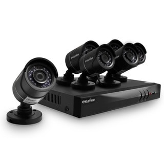 LaView 8-channel 1080p HD Analog and IP 2TB DVR Security System with Six 1080p Cameras