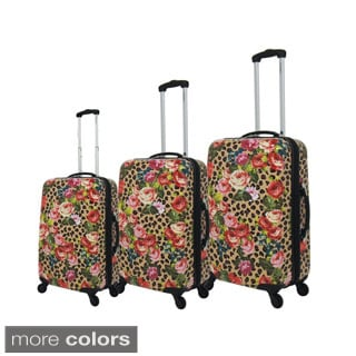 Chariot Safari 3-Piece Hardside Lightweight Expandable Upright Spinner Luggage Set