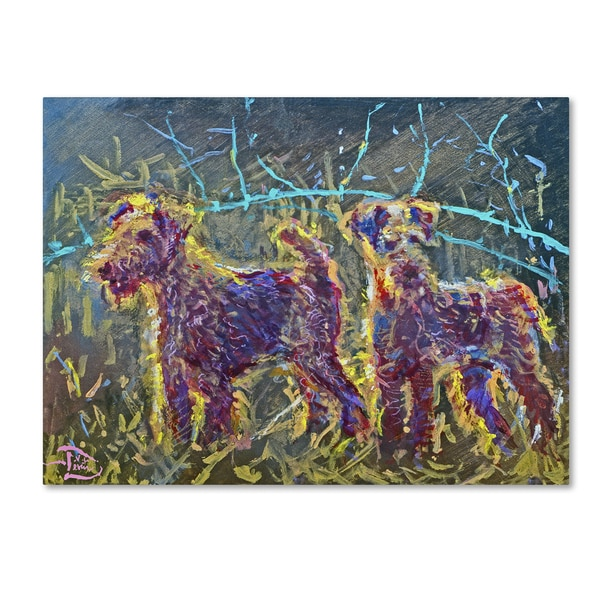 Lowell S.V. Devin '21st Century Fox Terriers' Gallery Wrapped Canvas Art