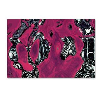 Lowell S.V. Devin 'Alien Zebra Dual' Gallery Wrapped Canvas Art
