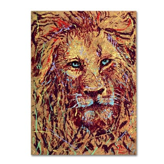 Lowell S.V. Devin 'Leo the Lion' Gallery Wrapped Canvas Art