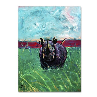 Lowell S.V. Devin 'Rhino in the Grass' Gallery Wrapped Canvas Art