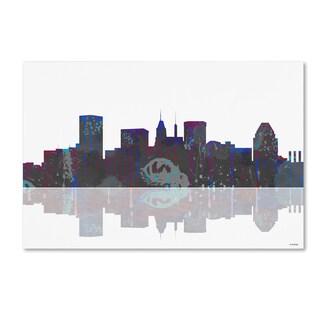 Marlene Watson 'Baltimore Maryland Skyline' Gallery Wrapped Canvas Art