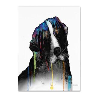 Marlene Watson 'Bernese Mountain Dog' Gallery Wrapped Canvas Art
