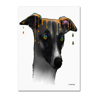 Marlene Watson 'Greyhound' Gallery Wrapped Canvas Art