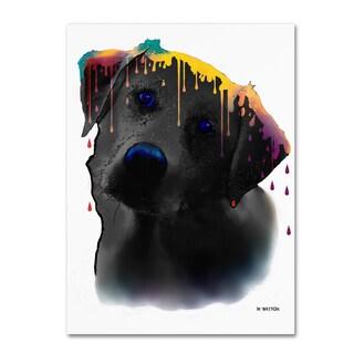 Marlene Watson 'Labrador Yellow' Gallery Wrapped Canvas Art