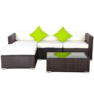Kokols 5-piece Outdoor Gradient Brown Patio Sofa Set