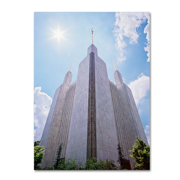 Gregory O'Hanlon 'LDS Temple Under the Sun' Gallery Wrapped Canvas Art