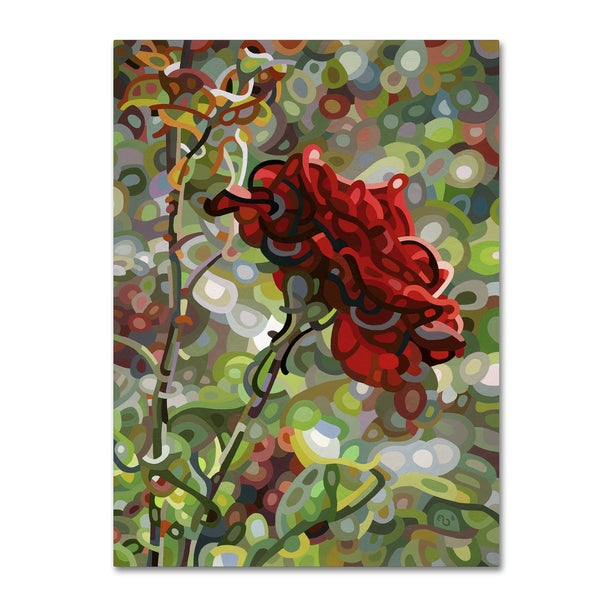 Mandy Budan 'Last Rose Of Summer' Gallery Wrapped Canvas Art