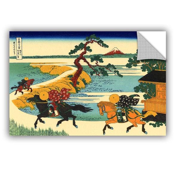 ArtAppealz Katsushika Hokusai 'The Fields Of Sekiya By The Sumida River ' Removable Wall Art