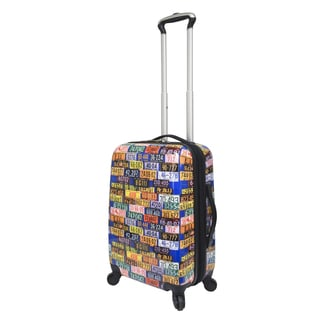 Curtis Publishing 20-inch Expandable ABS Carry-On with 360 4-Wheel System