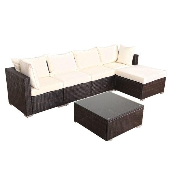 6 piece rattan garden furniture 1