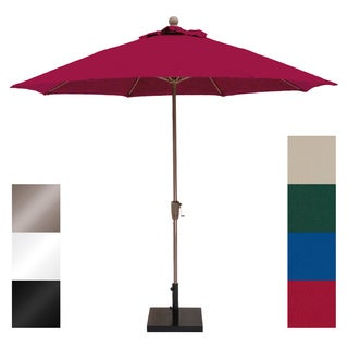 MIYU Furniture 9-foot Fiberglass Market Umbrella with Crank