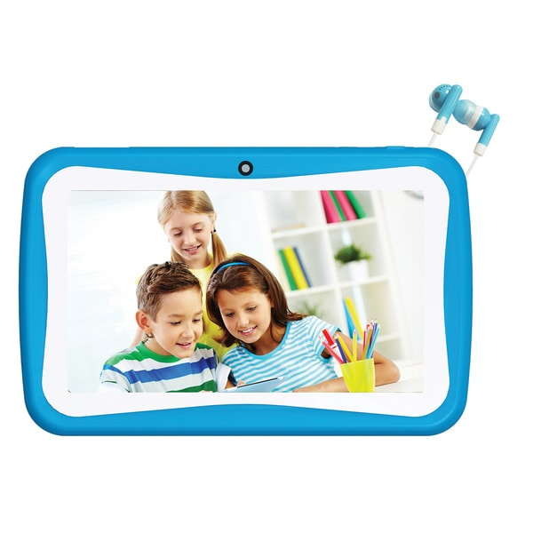 Munchkinz 7-inch Blue 4GB Android 4.4 Kid's Tablet with Earbuds