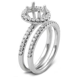 14k White Gold 3/4ct TDW Round Diamond Bridal Semi-mount Ring (H-I, I1-I2)
