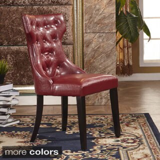 Modern Faux Leather Parson Dining Chair (Set of 2)