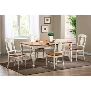 5-Piece Caramel Biscotti Rectangle Napoleon Dining Set