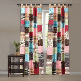 New Bohemian Curtain Panel Pair with Tie Backs
