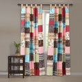 Greenland Home Fashions New Bohemian Curtain Panel Pair with Tie Backs