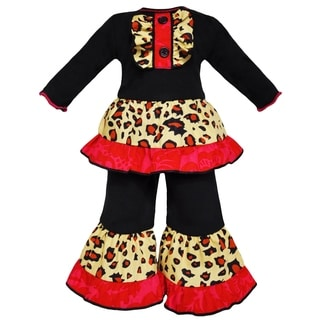 AnnLoren Leopard Tux Ruffle Clothing Doll Outfit