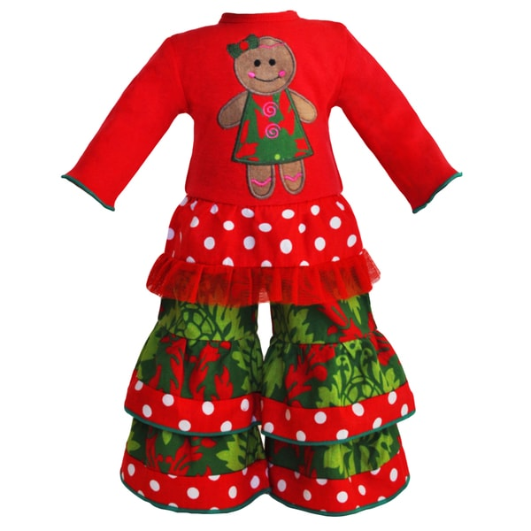 AnnLoren Christmas Gingerbread Man Outfit