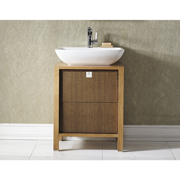 Vinnova monza 24 inch american red oak single vanity with for Bathroom 4 less review