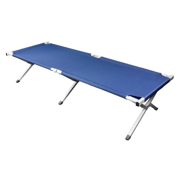 Deluxe Heavy-duty Military Folding Cot In Blue (500 pound capacity) (As Is Item)