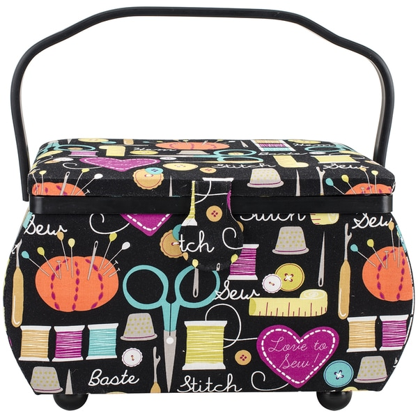 Sewing Basket Rectangle 12.75inX7.625inX7.75in Sewing Notions