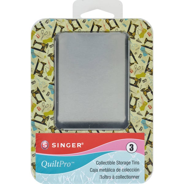 QuiltPro Collectible Storage Tins 3/Pkg