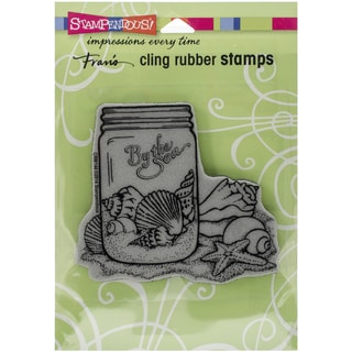 Stampendous Cling Rubber Stamp 6.5inX4.5in Pkg Seashell Jar