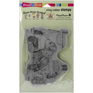 Stampendous House Mouse Cling Rubber Stamp 7.75inX4.5in Pkg Dog Wash
