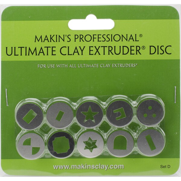 Makin's Professional Ultimate Clay Extruder Discs 10/Pkg Set D