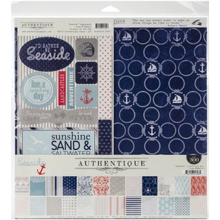 Authentique Collection Kit 12inX12in Seaside