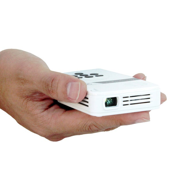 AAXA White Pocket-sized Mini-HDMI 25 Lumen qHD LED Pico Projector with Built-in Media Player