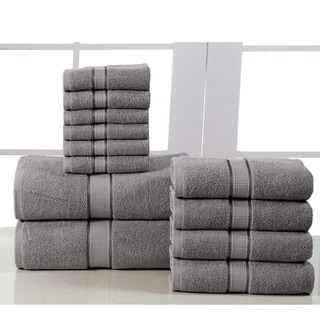 Elegance Spa Luxurious 600 GSM Egyptian Cotton 12-piece Towel Set
