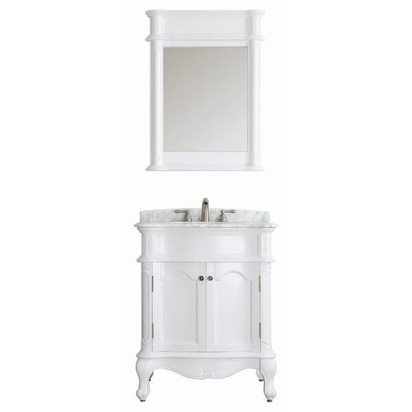 vinnova messina 30 inch single vanity in white with