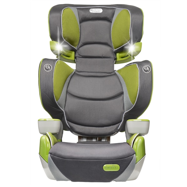 evenflo rightfit booster car seat in yoshi. Black Bedroom Furniture Sets. Home Design Ideas