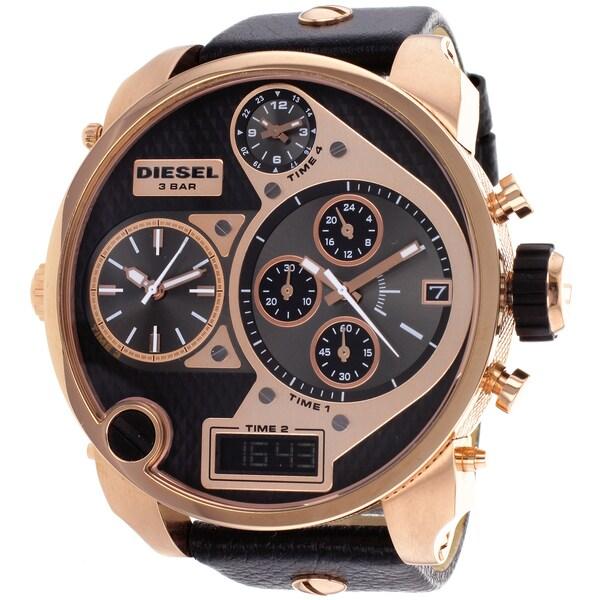 Diesel Men's DZ7261 Daddies Series Analog Display Quartz Black Watch