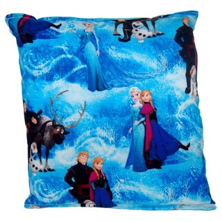 Frozen Multi-Character Reversible 11-inch x 10-inch Throw Pillow