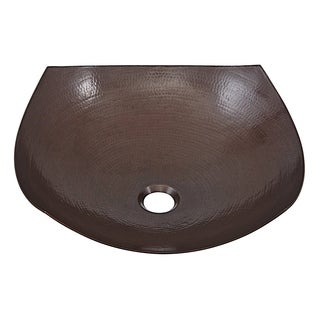 Sinkology Lovelace 16.5 inch Above Counter Vessel Copper Sink Handmade Solid Copper Sink in Aged Copper