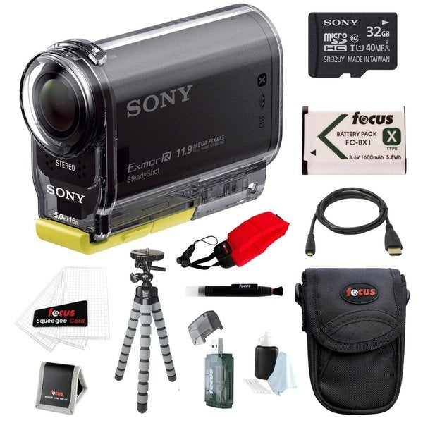 Sony HDR-AS20/B POV Action Cam with Wi-Fi/ NFC 32GB Bundle