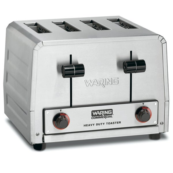 Waring Commercial WCT800 Heavy Duty Stainless Steel Standard Toaster with 4-Slots, 19-Amp (Refurbished)