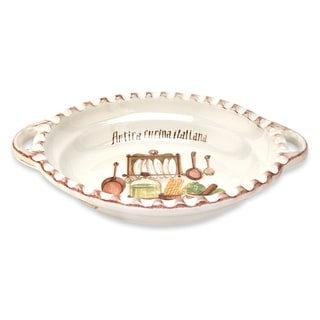 Italian Cucina 19-inch Oval Bowl with Handles