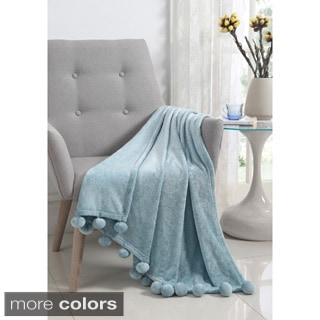 Montego Pom-pom Soft Throw