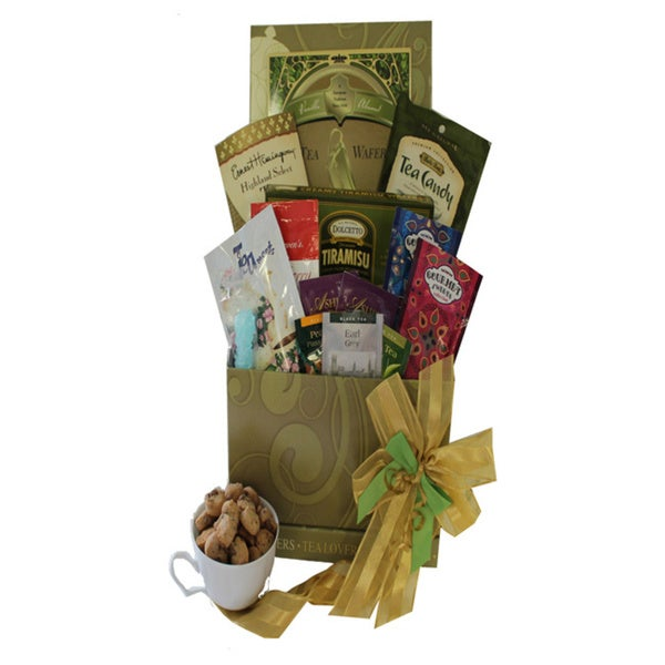 Art of Appreciation Tea Lovers Care Package Snacks and Treats Gift Box with Mug