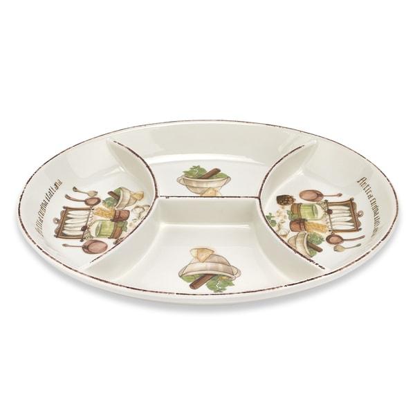 Italian Cucina 16-inch 4-section Dish