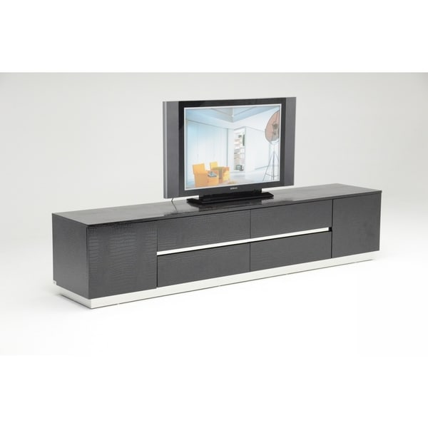 Modrest A&X Skyline Modern Black Crocodile Lacquer TV Unit