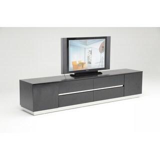 Modrest A&X Skyline Modern Black Crocodile Lacquer TV Unit